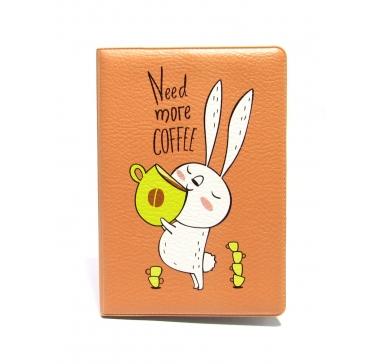 Обложка для паспорта «Зайка и кофе»